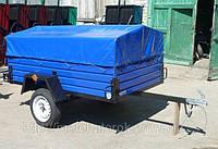 Прицеп Кремень Лев-21\183131 (автоприцеп) к легковому автомобилю, с тентом, 1 ось, грузоподъемность 1,25 т
