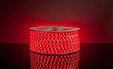 Светодиодная лента LED 5050 Red красные диоды бухта 100m 220V