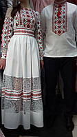 Свадебный наряд для пары в украинском стиле.