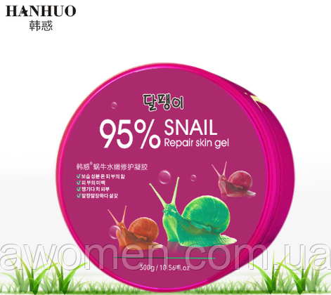 Гель с экстрактом улитки Hanhuo Snail Moisture Soothing Gel 95% Purity 300 g