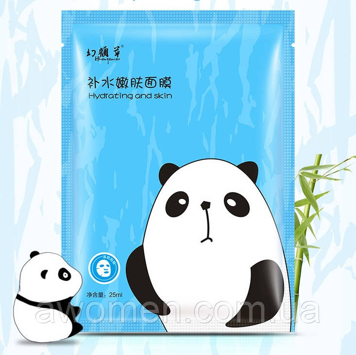 Маска тканевая для лица Hanhuo гиалуриновая и освежающая (панда) 25 g