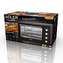 Электрическая печь духовка Adler AD 6010 обьем 45л мощность 2000вт, фото 10
