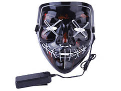 LED маска Судная ночь  Розовый