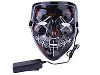 LED маска Судная ночь  Красный
