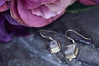 Винтажные Серебряные серьги  с Лунным камнем 925 проба
