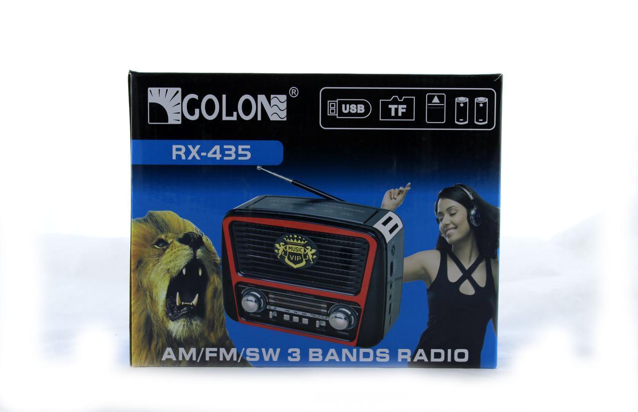 Радиоприемник GOLON RX 435 AM/FM/SW плеер usb/sd/card/встроенный фонарик