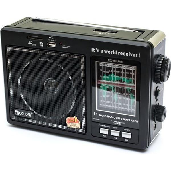 Радиоприемник Golon RX 99 UAR портативная колонка USB /SD / MP3/ FM