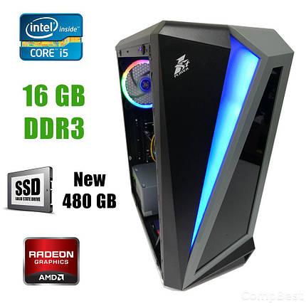 First Player ATX / Intel Core i5-4590 (4 ядра по 3.30-3.70GHz) / 16GB DDR3 / new! 480GB SSD/ Radeon RX580 8GB DDR5 256bit / new! БП 1300W / HDMI, DVI,, фото 2