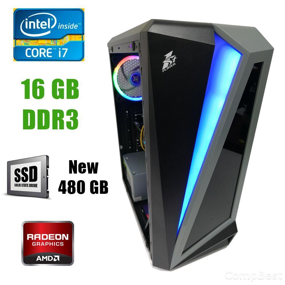 First Player ATX / Intel Core i7-3770 (4(8) ядра по 3.40-3.90GHz) / 16GB DDR3 / new! 480GB SSD / Radeon RX580 8GB DDR5 256bit / new! 1300W / HDMI,