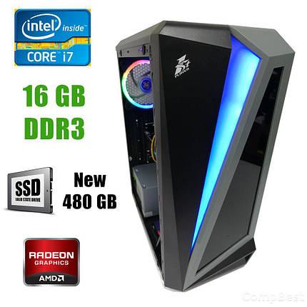First Player ATX / Intel Core i7-3770 (4(8) ядра по 3.40-3.90GHz) / 16GB DDR3 / new! 480GB SSD / Radeon RX580 8GB DDR5 256bit / new! 1300W / HDMI,, фото 2