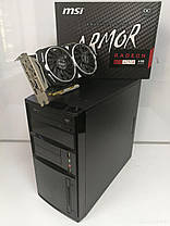 EuroCom ATX / AMD FX6100 (6 ядер по 3.3-3.9GHz) / 12GB DDR3 / new! 240GB SSD / Radeon RX470 4GB DDR5 256bit / new! 1300W / HDMI, DVI, DP, USB 3.0, фото 2