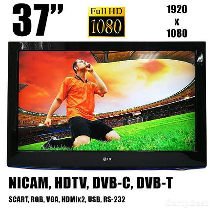 "Телевизор LG 37LD420C / 37"" (1920х1080) / 450 кд.м2 / 4 мс / 60 Гц / PAL, SECAM, NTSC / HDMI, HDCP, АВ, Scart USB 2.0, CI Slot, фото 2"
