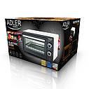Электрическая печь духовка Adler AD 6003 обьем 9л мощность 1400вт, фото 4