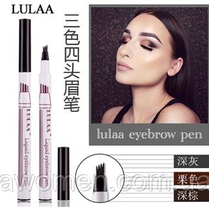 Маркер для брів Lulaa liquid EyeBrow pen 2g № 2 (Dark Brown)