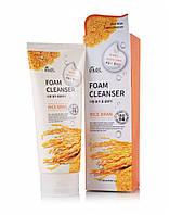 Пенка очищающая для лица Ekel Rice Bran Foam Cleanser  с экстрактом риса