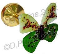 Держатель для штор витражное стекло Бабочка Бело-Зеленая Красавица