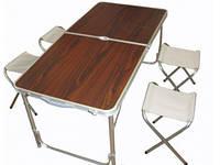 Складной Стол Для Пикника Folding Table Red В Комплекте Входят 4 Стула Туристический Стол И Стулья