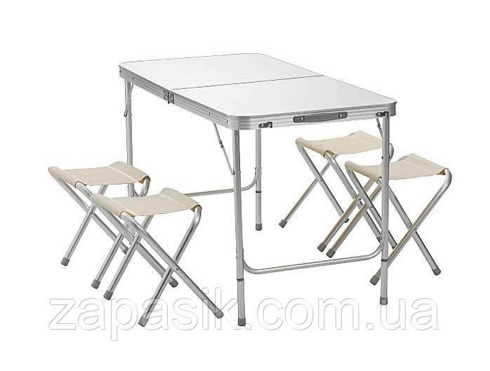Складной Стол Для Пикника Folding Table В Комплекте Входят 4 Стула Туристический Стол И Стулья