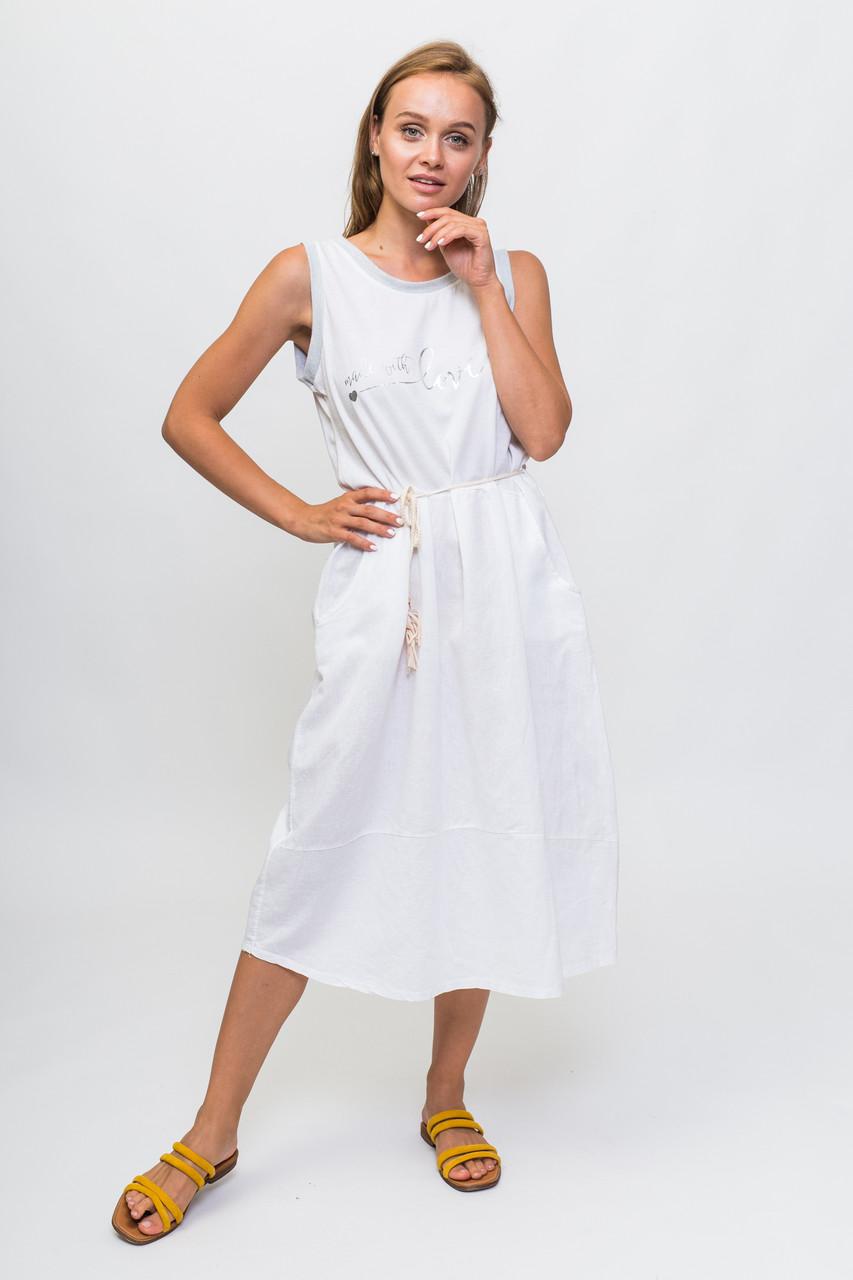 Летнее платье made with love for My Luna - белый цвет, L (есть размеры)