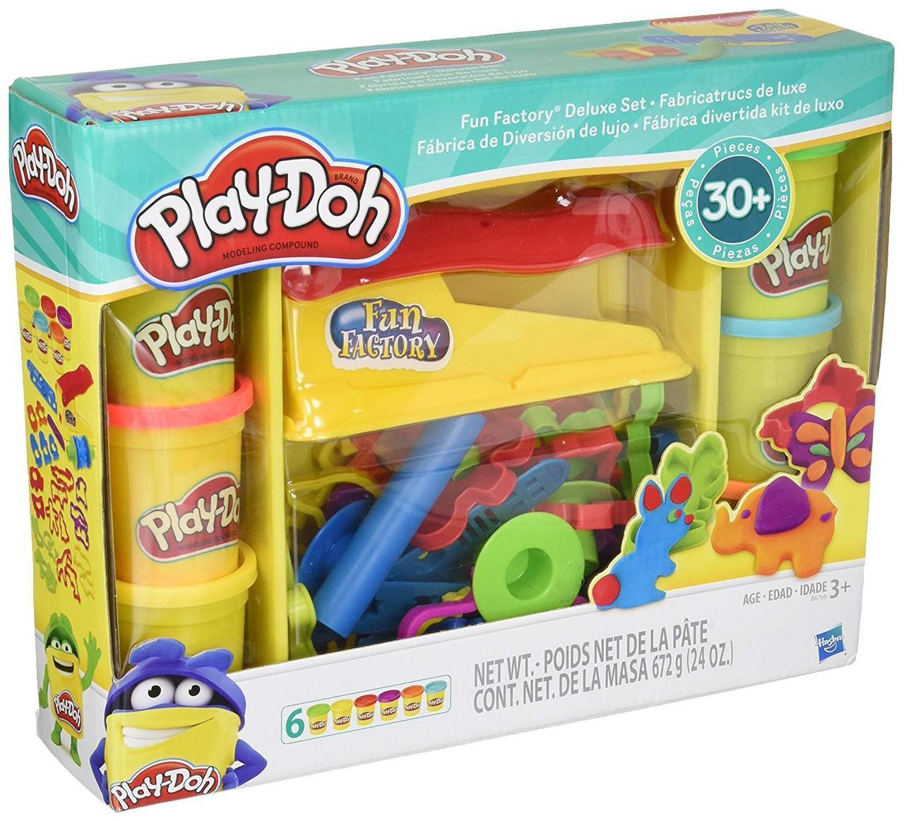 Набор для творчества Плей-До Веселая фабрика животные Play-Doh Fun Factory Deluxe Set