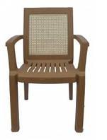 Кресло пластиковое Мимоза бежевое