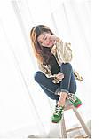 Кроссовки New Balance 574 green реплика размер 35,5 (23 см), фото 7