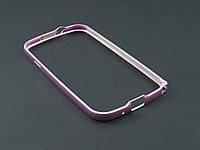 Бампер металл для Samsung Galaxy S3 I9300i сиреневый