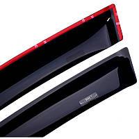 Дефлекторы боковых окон Hic Skoda Fabia II с 2007 - HB   Ветровики накладные клеящиеся на скотче HIC-SK07