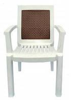 Кресло пластиковое Мимоза белое