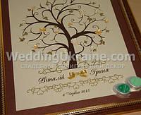 Дерево пожеланий с цветами на 120-150 отпечатков