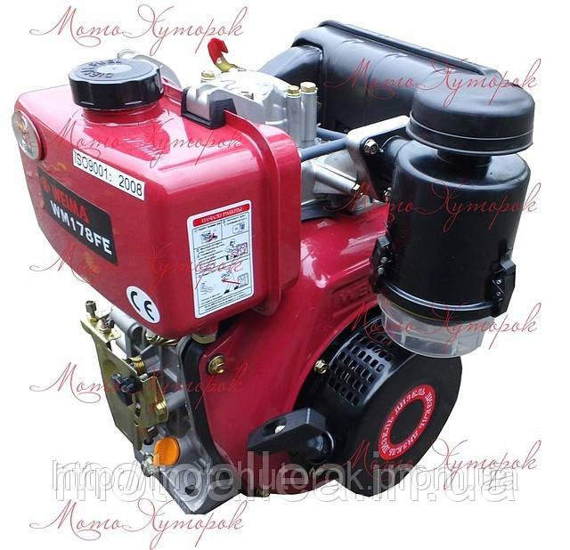 Двигатель дизельный Weima WM 178FE, с электростартером, шпоночный тип, мощность 6 л.с.