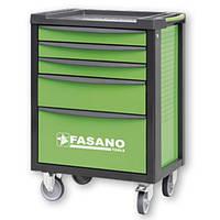 Тележка инструментальная на 5-7 секций Fasano FG 100 (5 секций, Зеленый, FG 100V/5T)