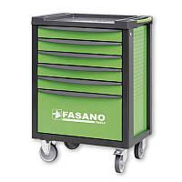 Тележка инструментальная с набором инструмента 130шт Fasano FG 100V/AS130 (6 секций, Зеленый, 100V/AS130)