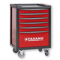 Тележка инструментальная с набором инструмента 130шт Fasano FG 100V/AS130 (6 секций, Красный, 100R/AS130)