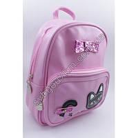 """Розовый рюкзак детский с бантиком и кошечкой """"Kids backpack"""""""