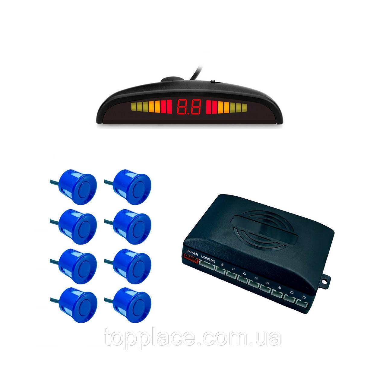 Паркувальна система RangePolar SW-888-8 на 8 датчиків, Dark-Blue (AS101005353)
