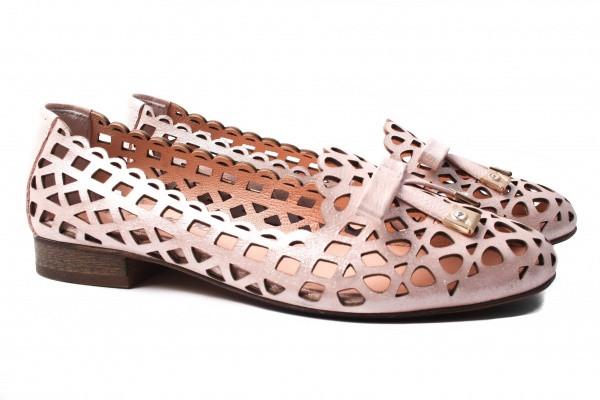 Туфли комфорт Euromoda натуральный сатин, цвет розовый