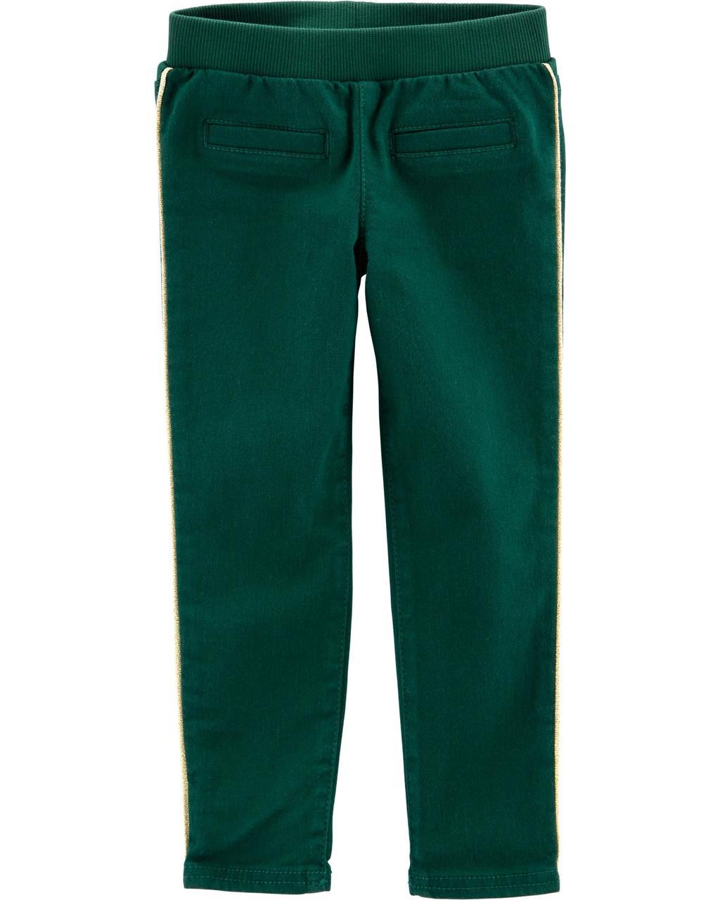 Штаны скини для девочки Carters (Картерс) зеленые 18М(78-83 см)