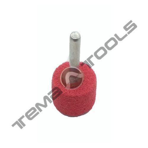 Спінений абразив на дриль Ø25x25 6мм P120 червоний
