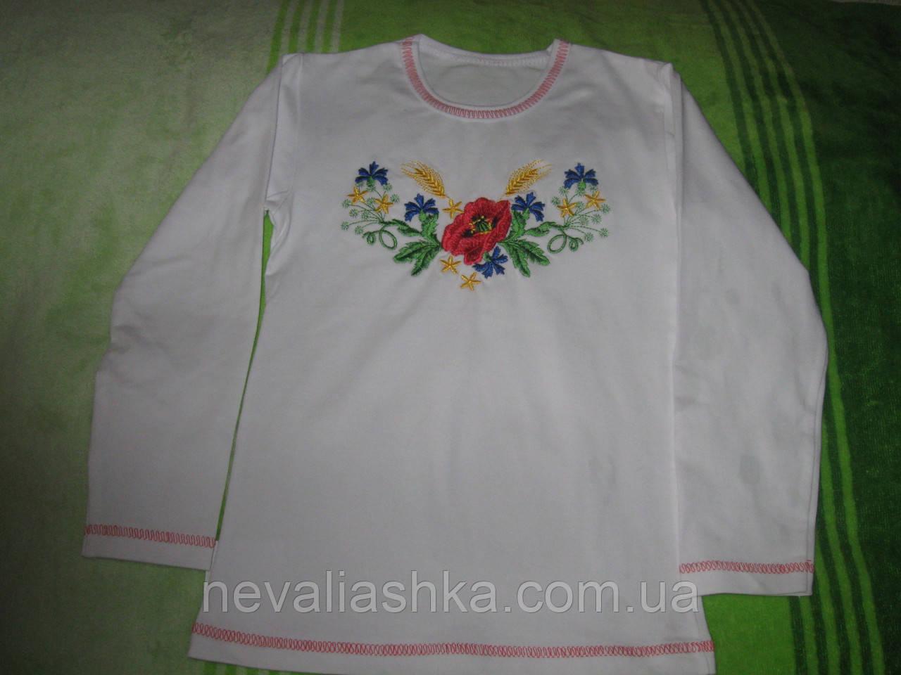 """Вышиванка  футболка """"Маки""""раз.122-128  Украина"""