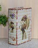 """Книга-сейф """"Девушка с зонтом"""" (22*16*7 см) тайник с ключом, фото 6"""