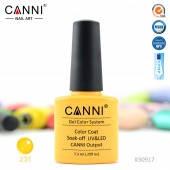 Гель-лак CANNI 231 пастельный желтый