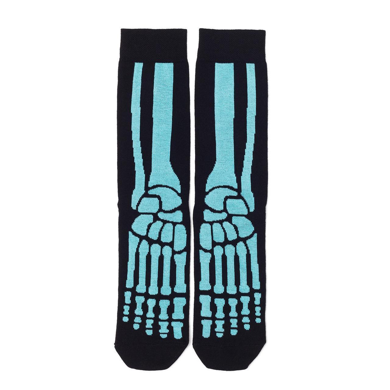 Носки мужские с принтом Dodo Socks X-ray 44-46, черные