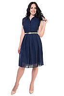 Женское летнее платье из шифона с поясом