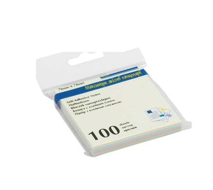 Блок бумаги для заметок Buromax 76х76 мм, 4 цвета 25 шт, ассорти пастель