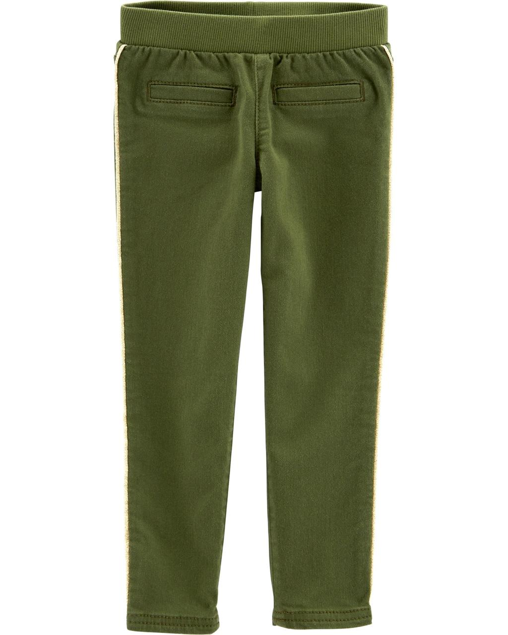 Штаны скини для девочки Carters (Картерс) оливка 12М(72-78 см)
