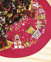 Набор для вышивки крестом Юбка для новогодней елки 109x55 см Crystal Art