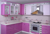 Изготовление кухни с пленочными МДФ фасадами под заказ