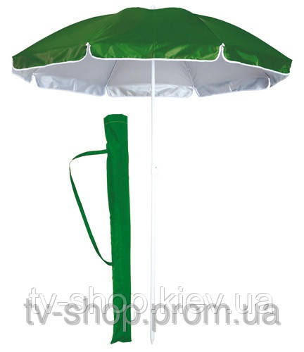 Зонт пляжный с наклоном 1,7 м (зеленый, в чехле)