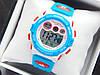 Водонепроницаемые детские спортивные наручные часы Skmei 1451 голубые с белым